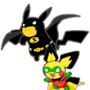Poke-man and Boy Pichu by lemonshaman