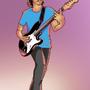 Jo playing guitar by MZLART