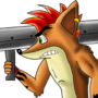 Crash Bandicoot and bazooka by EDGG-sketch