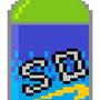 Pixel Soda Bottle by Clyphe