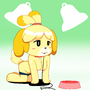 Animal Crossing's Isabelle by QuietStealth