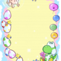 Yoshi's Island Note Paper by doublemaximus