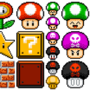 Super Mario Item Set 1 by CapnCoconuts