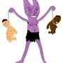 PURPLE BABY HANGER by peanutbutterclawk