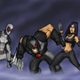 MvC 3:TEAM WEAPON X! by Sabrerine911