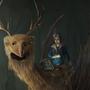 deerbirddragon and a guy by Jamesflounds