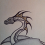 Black Pen Dragon by AshleyAlyse