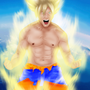 Living Ichigo as Goku by SmokeyTaylor