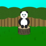 Cute Baby Panda on a Stump by supaman321