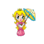 Chibi Super Princess Peach by mistydawn132