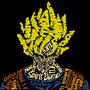 Dragon Ball Z Goku Typography by mistydawn132