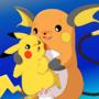 Raichu y Pikachu by SiberianCrystAlx