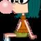 Mina Blowing a Bubble