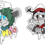 Mr. and Mrs. badges by limeslimed