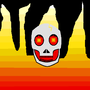burning skull by qwerty1000000