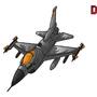 F16 Vector by skullduggerystudios