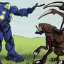 Terran Playing With Zergling by radioactiveroach