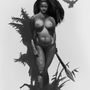 Frank Frazetta Study 01 Value by Surfsideaaron