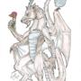 Dragon Wolf by WickedWyvern