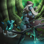 Drow Ranger vs Riki - Dota 2 by illustrationoverdose