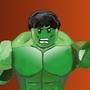 Lego Hulk by PaintBoxHero