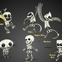 Famous Cartoon Skeletons by Creativeimonkey