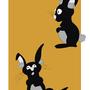 Black Rabbits by KapiKullo