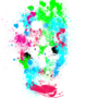 Paint Splatter Skull by OneDayFamous