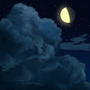 Clouds at Night by iceimp