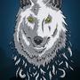 Dire Wolf Vector by skullduggerystudios