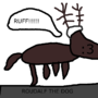 Rudolph The Dog by DinoDoesStuff