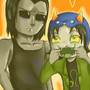 Nepeta and Equius by ChazzForte