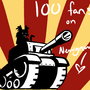 100 Fans by Inumisha