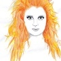 girl with crazy orange hair by thetoughfairy