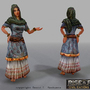 3D game character: Woman by sanhueza