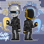 Daft Punk - pixel art by ionrayner