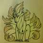 Ninetales in Tribal by FudgeMellow