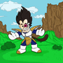 Chibi Vegeta by SerpentineSully