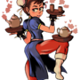 Chun-Li and TEA by nackem