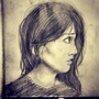 Thoughtful Girl by littlekristian