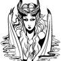 Demon Lady Doodle by Sabtastic