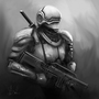 Sci-fi soldier assassin guy by Surfsideaaron