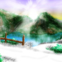 Snowy Mountain Overpass by fxscreamer