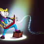 Take It Away Keytar Cat by fxscreamer