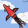 Flying squid (With stache) by CamX3