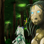 Sunbathing Dryads by LurkinMcClerkin