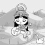 Daily Draw #7 - Saraswati by Oye-LKY