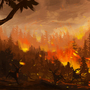 Forest fire by wartynewt