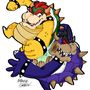 Bowser vs. Dark Bowser by ThePowerPlumber