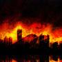 Burning City by Stellarian